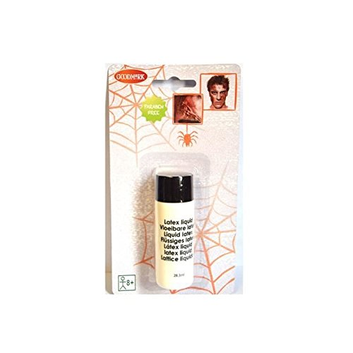 Goodmark 02070198-N - Flüssiges Latex, 1 Tube, 28,3 ml, auf Blisterkarte, Liquid Latex, Haut aus der Tube, hautfarben, Make-Up, Grundierung, Schminke, Theater, Bühne, Karneval, Fasching, Halloween