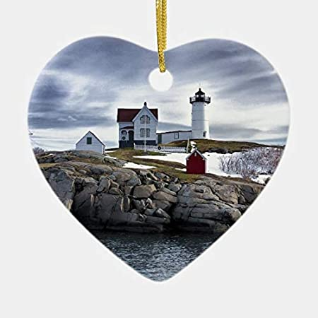 Vintage Suncatcher Cape Neddick Maine ME Lighthouse Window Decoration Ornament