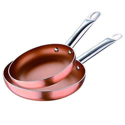 San Ignacio Juego de sartenes (20 y 24 cm) Professional Chef Copper Plus de alumino prensado aptas para induccion, Aluminio
