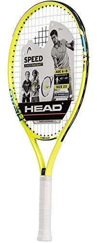 "HEAD Speed Kids Tennis Racquet - Beginners Pre-Strung Head Light Balance Jr Racket - 23"", Yellow"
