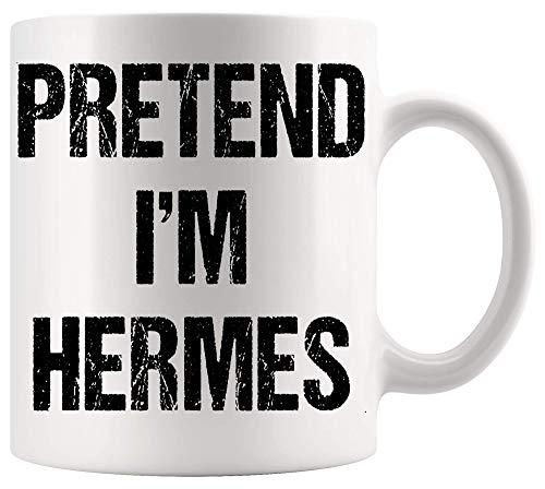 DKISEE Taza de Dios Jesús con diseño de copa cristiana Pretend Im Hermes, disfraz de Dios griego, Halloween, fiesta de Dios Jesús oficina, póster blanco tazas de 325 ml