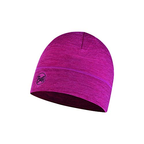 Buff Damen Hut Lightweight Merino Wool, Purple Multi Stripes, One Size, 117997.605.10.00