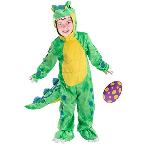 Child Unisex Green T-Rex Costume for Halloween Trick or Treating Dress-up (Toddler (3-4 yrs))