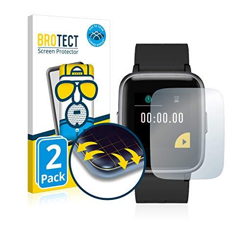 brotect Pellicola Copertura Completa Opaca Compatibile con Arbily Fitness Tracker ID205 (2 Pezzi) Full-Cover 3D Curvo