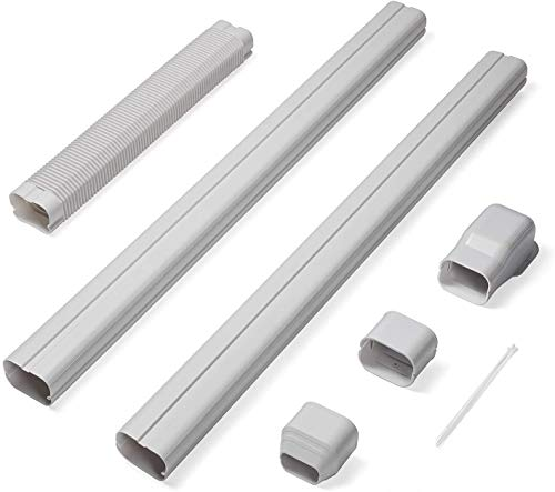 TURBRO 3'' W × 7.5' L Decorative PVC Line Cover Kit for Mini Split and Central Air Conditioners, AC Heat Pumps Systems