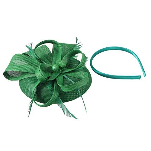 Lurrose Tocados con diadema de flores para fiesta de té sombreros de...