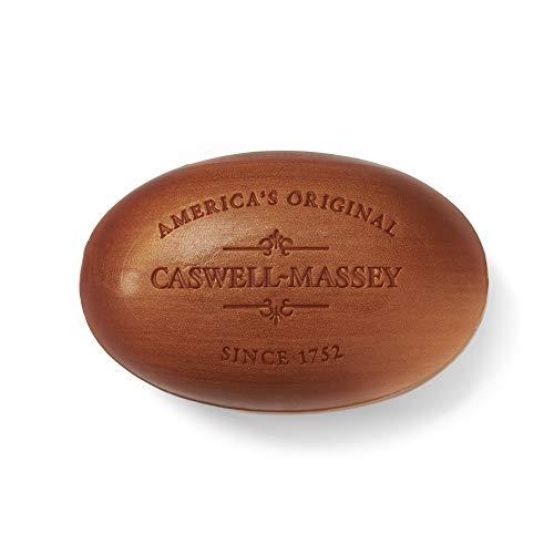 Caswell-Massey Triple Milled Luxury Bath Soap Woodgrain Sandalwood Fragrance Bar Soap, 5.8 Oz