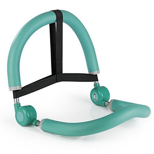 VITALmaxx Multi-Trainingsgerät 10in1 | Fitness Gerät für Zuhause | Allround Sportgerät für Bauch, Beine, Po und Arme | [Türkis, mit Widerstand]