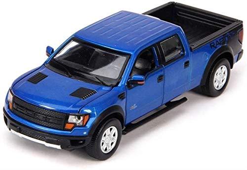 Hyzb Coche Modelo de Coche 6x6x17.5CM joyería 1,32 For Ford F150 Pickup Adornos de Juguete Sports Car Collection (Color : Blue)