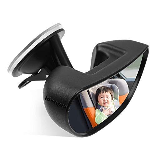 IDEAPRO車用ベビーミラーインサイトミラー車用ルームミラー360度回転・ガラス飛散防止チャイルドシートミラー運転席から赤ちゃんを見守る取り付け簡単(フロントガラスタイプ)