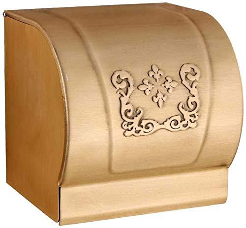 KMILE Caja de Tejido de Aluminio Espacio Toalla de baño Toalla de baño Cortador de Papel Punzón Libre de la Pared Antigua