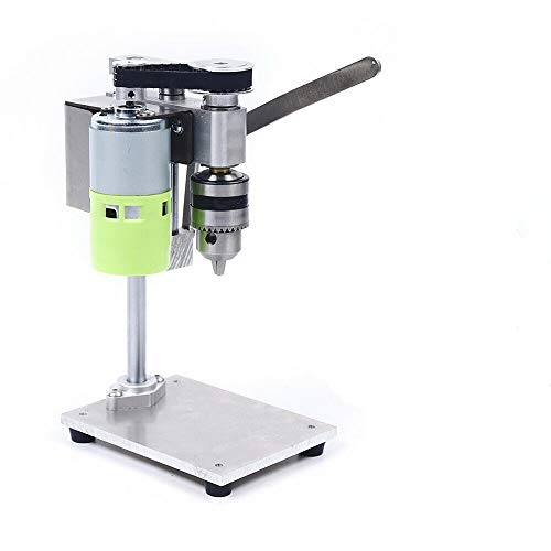 DENESTUS Mini Drill Press Compact Drill Presses Table Workbench Portable Electric Bench Jeweler Hobby Adjustable 7 Speeds 1000 to 4500 RPM Drilling Machin