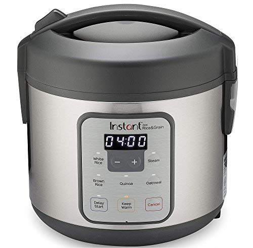 Instant Zest Rice Cooker, Steamer, Cooks Rice, Grains, Quinoa and Oatmeal, 8 Cup