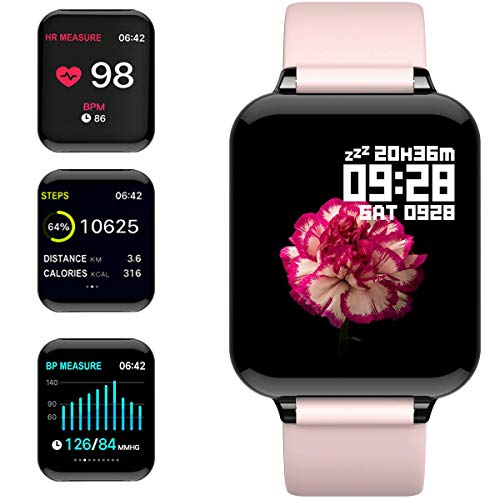 feifuns Smart Watch, Fitness Tracker with Heart Rate/Blood Pressure/Oxygen Monitor,1.3 Color Screen Health Exercise Watch Sleep Monitor Step Calorie Counter Waterproof Fitness Watch for Men Women Kids