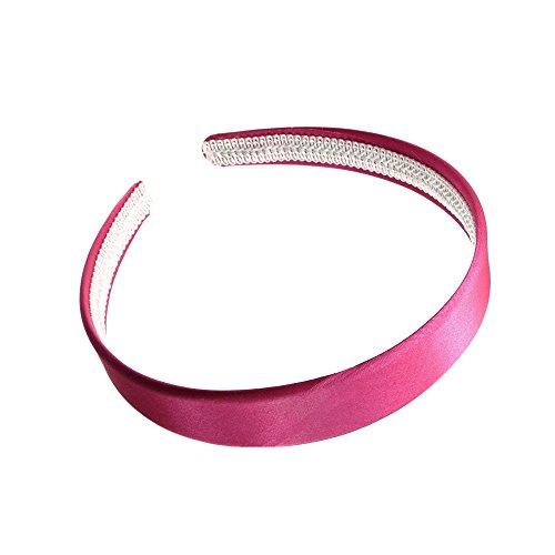 2 cm (2 cm) Large couvert en satin rose Alice Bandeau pour cheveux