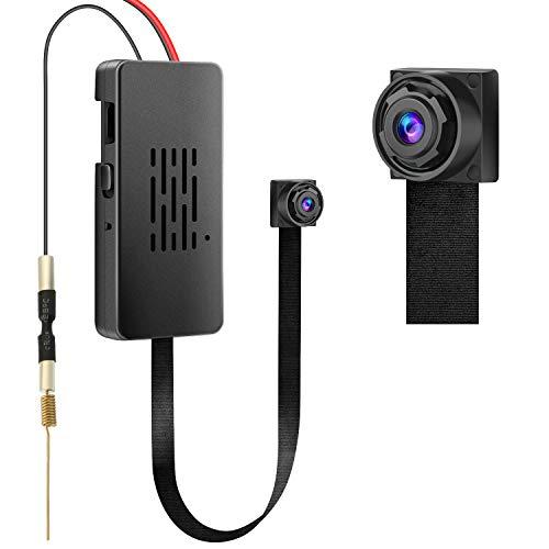 Mini Telecamera WIFI, Telecamera Portatile HD 1080P, Batteria Ntegrata a Lunga Durata da 3000 mAh, con Registrazione in Loop e Notifica di Allarme Telecamera di Sicurezza per Interno/Esterno