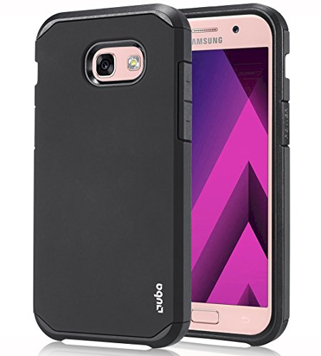 OUBA Galaxy A5 2017 Case, [Shock Absorbing] [Anti-Drop] Hybrid Defender Dual Layer Shockproof Rugged Premium Protective Case Cover for Samsung Galaxy A5 2017 - Black