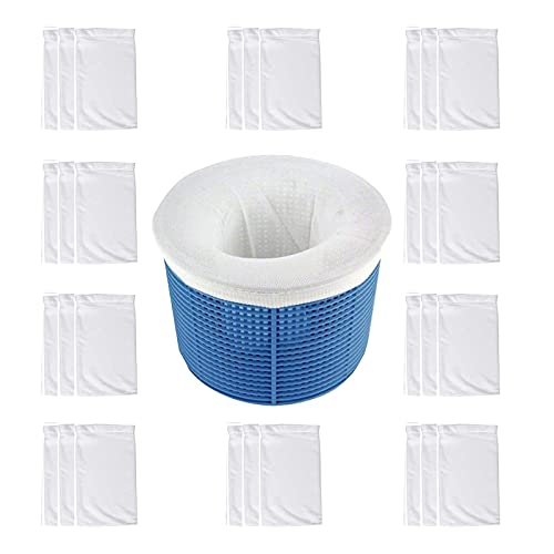 Etosok 30 Stück Pool-Skimmer-Socken für Filternetz, Korbzubehör, Abschäumung im Boden oder oberirdischen Pool (30)