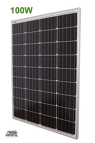 ANFIL 100 Watt 12 Volt NUOVO Pannello Solare a...