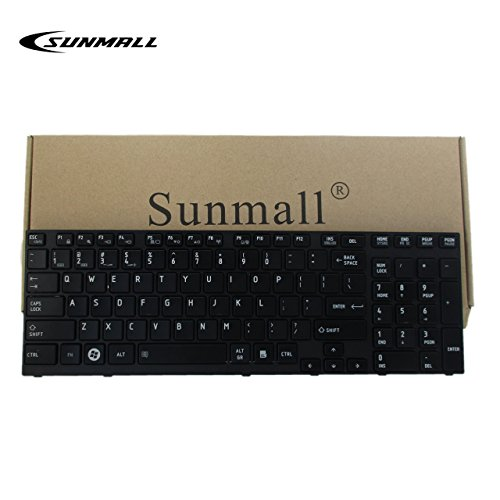 GinTai Laptop US Keyboard with Frame Replacement for Toshiba Satellite P755-S5375 P755-S5380