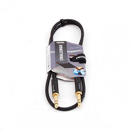 Proel CHL140LU3 - Cavo per Strumenti Bilanciato Jack Stereo 6,3mm a jack stereo 6,3mm - 3mt, Nero (3mt)