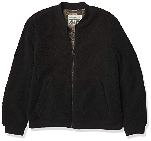Levi's Men's Sherpa Varsity Bomber Jacket, Black, Small