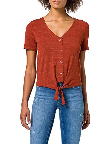 ONLY Damen ONLMOSTER S/S Knot TOP JRS T-Shirt, Arabian Spice, M