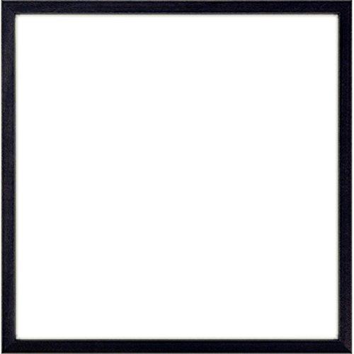 レコードフレーム 5767・UVカットアクリル仕様 壁用ボタンフックホワイト(M-080)付き (ブラック)
