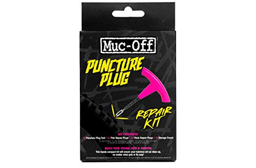 Muc-Off Puncture Plug Universal Tubeless Bike Repair Kit Tool Plugs Pouch