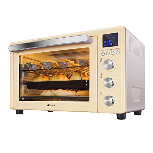 JCOCO Four domestique 32L avec réglage de la température 0-230°C et minuterie intelligente Four 1500W en verre à trois couches
