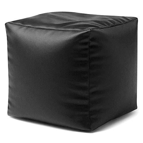 Bean Bag Bazaar Cubo Puf de Piel Sintético - Escabel - 38cm...