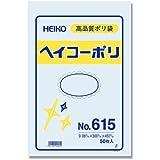 シモジマ ヘイコー ビニール袋 ヘイコーポリ No.615 0.06mm厚 紐なし 50枚 006620500 幅300高450mm