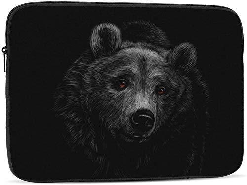 Portrait of A Bat Laptop Sleeve Bag Compatible with 10-17 Inch Cute Computer Bag Laptop Case-Portrait Of A Brown Bear,17inch