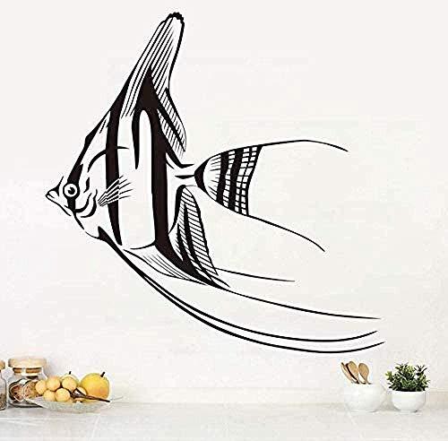 Tatuajes de pared decoración pegatinas de pared sala de estar cocina pez nómada accesorios de arte de pared 59X59 cm