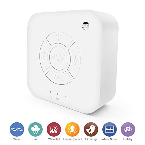 White Noise Machine, White Noise Sound Machine, High Fidelity 9 Natural and Soothing Sounds Machine, Portable Sleep Sound Therapy Machine with Baby Soothing Night Light for Home, Office, Baby, Travel
