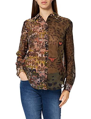 Desigual Womens CAM_Daytona Shirt, Green, XL
