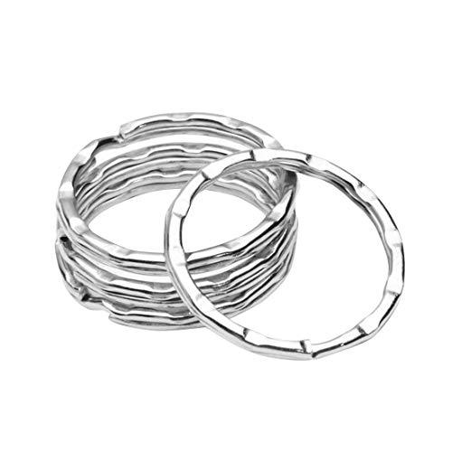O-Kinee 100 Stücke Schlüsselringe, Schlüsselanhänger Ringe aus Edelstahl, Größen von 25mm Spaltringe Hausschlüsseln, Autoschlüsseln DIY Handgemachtes (Ausgefallener)