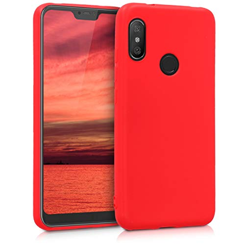 kwmobile Funda Compatible con Xiaomi Redmi 6 Pro/Mi A2 Lite - Carcasa de TPU Silicona - Protector Trasero en Rojo Mate