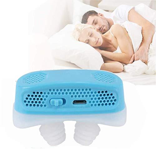 Inmindboom Micro Cpap Anti-Schnarch-Elektronisches Gerät gegen Schlafapnoe, elektronische Nasenöffnungen, Anti-Schnarch-Mikro-Cpap - Schlafapnoe-Behandlung - Hören Sie jetzt auf zu Schnarchen (Blau)