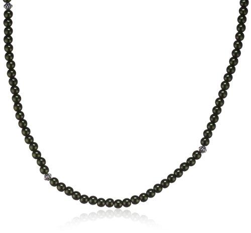 EDC Damen-Halsband Edelstahl rhodiniert Perlmutt Innocent Pearly Green grün EENL10240A420