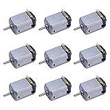 DIVISTAR 9 Stück DC 1,5–6 V 15000–16500 U/min Mini-Elektromotor für DIY-Spielzeug, wissenschaftliche Experimente -