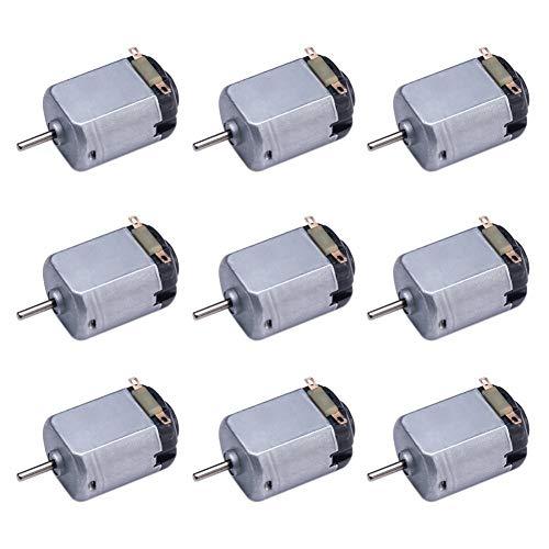 DIVISTAR 9 Pack DC 1.5-6V 15000-16500RPM Mini Motor eléctrico para Juguetes de Bricolaje, experimentos de Ciencia