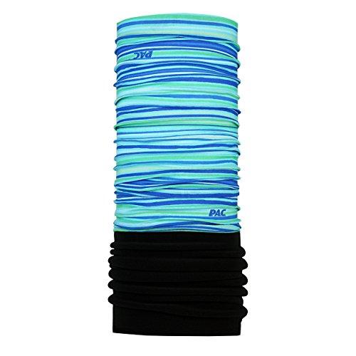 P.A.C. Kids Fleece Stripes Blue Multifunktionstuch - Schlauchtuch, Halstuch, Schal, Kopftuch, Unisex, 8 Anwendungsmöglichkeiten