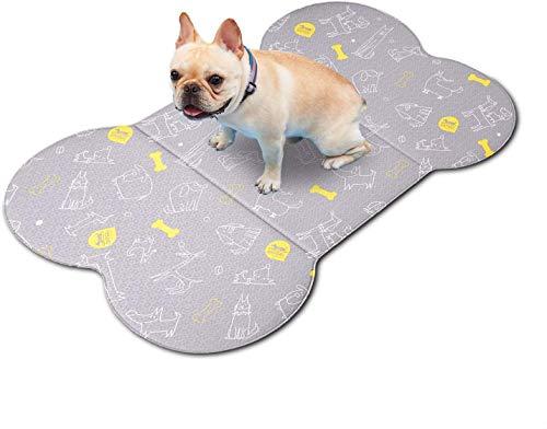 洗える ペット ソフトマット S グレー 介護 犬猫用 多用途 ペット 介護マット 骨型 介護用 ペットシート 犬 デザイン ズレない 滑り止め マット 防水 柔らかい 気持ちいい オールシーズン使用可能 やさしい 素材 子供用プレイマットにも使用している