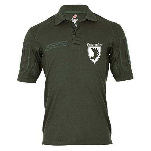 Copytec Copytec Tactical Poloshirt Alfa - Ostpreußen Provinz Königreich Preußen Elch #19333, Größe:S, Farbe:Oliv