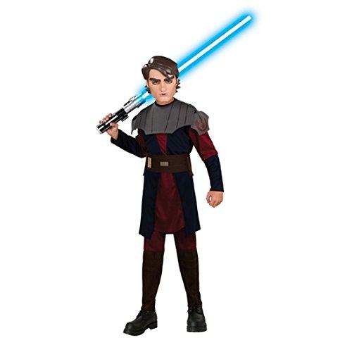 NET TOYS Clone Wars Kinder Kostüm Anakin Skywalker Star Wars Kinderkostüm Jediritter Gr L 8-10 Jahre