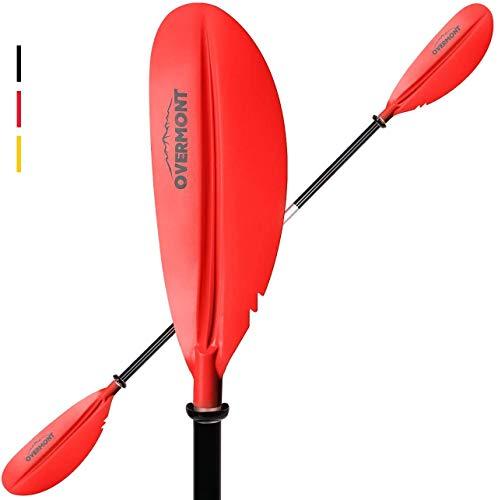 Overmont Pagaia per Kayak Telescopica Pagaia Paddle in Alluminio Regolabile Removibili per SUP Canoa Boat Canoe Surfboard, Barche Gommone