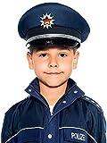 Maskworld Originalgetreue deutsche Polizei-Mütze für kleine Polizisten - Kinder-Kostüm-Accesoire für Karneval Fasching & Halloween - Polizeihut Uniform Blau - Größe 56