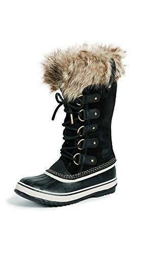 Sorel Women's Joan of Arctic Boots, Black/Stone, 10.5 M US