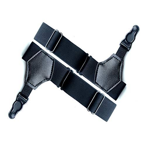Clips Liguero para Camisa Clips de Liguero para Hombre Clips Liga Ajustables para Hombre para Calcetines Antideslizantes, se Utilizan Faldas de Mujer, Ropa y Accesorios de Tirantes (Negro)